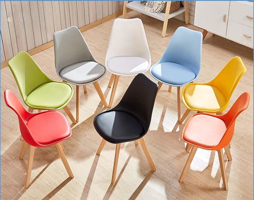 ghế cafe chân gỗ bọc đẹm